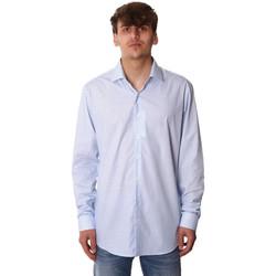 Textil Muži Košile s dlouhymi rukávy Calvin Klein Jeans K10K105402 Modrý