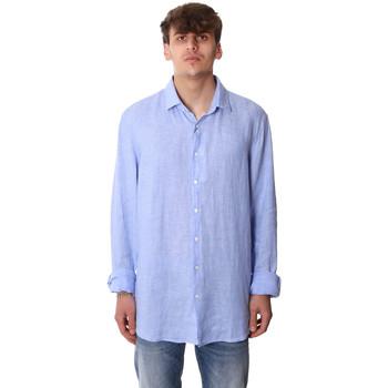 Textil Muži Košile s dlouhymi rukávy Calvin Klein Jeans K10K106018 Modrý