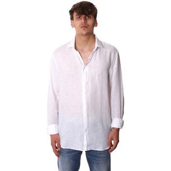 Textil Muži Košile s dlouhymi rukávy Calvin Klein Jeans K10K106018 Bílý