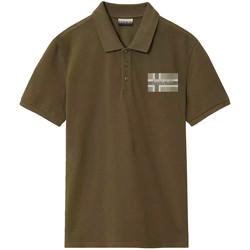 Textil Muži Polo s krátkými rukávy Napapijri NP0A4E2K Zelený