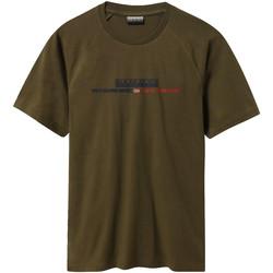 Textil Muži Trička s krátkým rukávem Napapijri NP0A4E37 Zelený