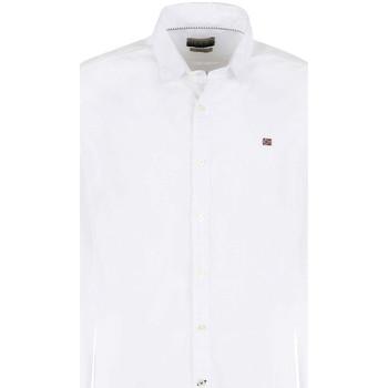 Textil Muži Košile s dlouhymi rukávy Napapijri NP0A4E2U Bílý