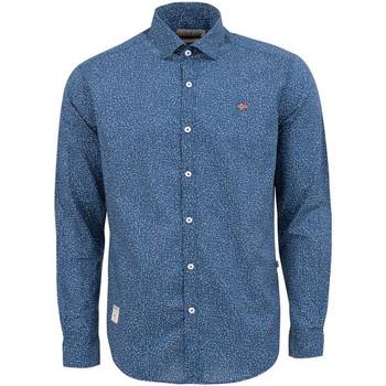 Textil Muži Košile s dlouhymi rukávy Napapijri NP0A4E2W Modrý