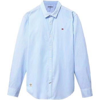 Textil Muži Košile s dlouhymi rukávy Napapijri NP0A4E2U Modrý