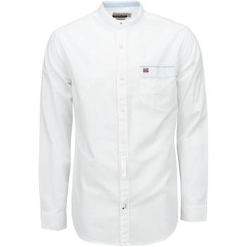 Textil Muži Košile s dlouhymi rukávy Napapijri NP0A4E2X Bílý