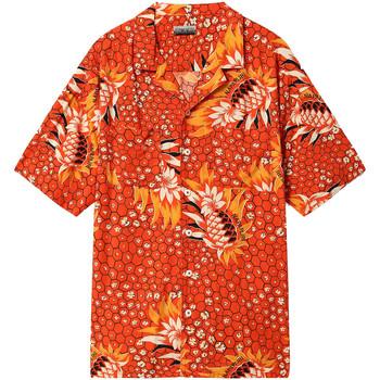 Textil Muži Košile s krátkými rukávy Napapijri NP0A4E81 Červené