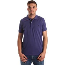 Textil Muži Polo s krátkými rukávy U.S Polo Assn. 41029 51244 Modrý