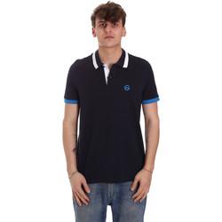 Textil Muži Polo s krátkými rukávy Gaudi 011BU64043 Modrý