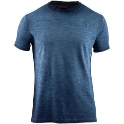 Textil Muži Trička s krátkým rukávem Lumberjack CM60343 004 517 Modrý