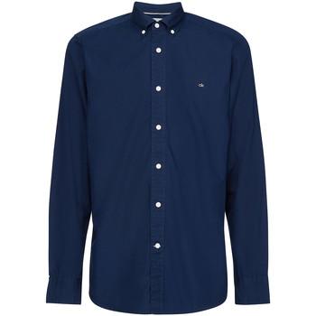 Textil Muži Košile s dlouhymi rukávy Calvin Klein Jeans K10K105284 Modrý