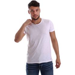 Textil Muži Trička s krátkým rukávem Key Up 233SG 0001 Bílý