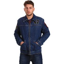 Textil Muži Riflové bundy Wrangler W4580512L Modrý