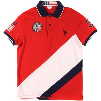 Textil Muži Polo s krátkými rukávy U.S Polo Assn. 43771 41029 Červené