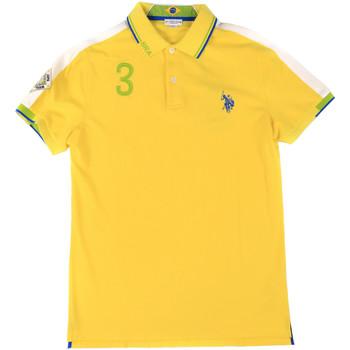 Textil Muži Polo s krátkými rukávy U.S Polo Assn. 43770 41029 Žlutá
