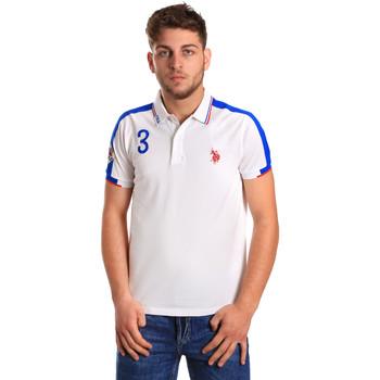 Textil Muži Polo s krátkými rukávy U.S Polo Assn. 43770 41029 Bílý