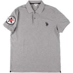 Textil Muži Polo s krátkými rukávy U.S Polo Assn. 43767 41029 Šedá