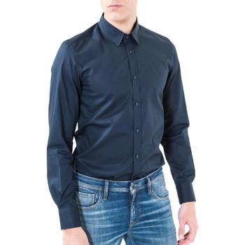 Textil Muži Košile s dlouhymi rukávy Antony Morato MMSL00362 FA400042 Modrý