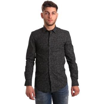 Textil Muži Košile s dlouhymi rukávy Antony Morato MMSL00428 FA430302 Černá