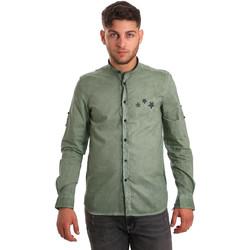 Textil Muži Košile s dlouhymi rukávy Antony Morato MMSL00452 FA400014 Zelený