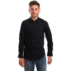 Textil Muži Košile s dlouhymi rukávy Antony Morato MMSL00472 FA450001 Modrý