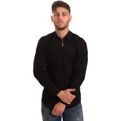 Textil Muži Košile s dlouhymi rukávy Antony Morato MMSL00472 FA450001 Černá