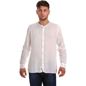 Textil Muži Košile s dlouhymi rukávy Gaudi 811BU45022 Bílý