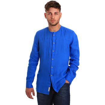 Textil Muži Košile s dlouhymi rukávy Gaudi 811BU45022 Modrý