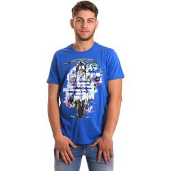 Textil Muži Trička s krátkým rukávem Gaudi 811BU64154 Modrý