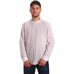 Textil Muži Košile s dlouhymi rukávy Gaudi 811FU45020 Bílý