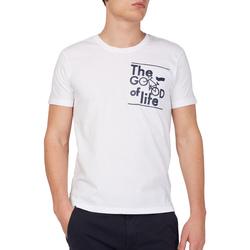 Textil Muži Trička s krátkým rukávem Gas 542990 Bílý
