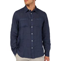 Textil Muži Košile s dlouhymi rukávy Gas 151150 Modrý