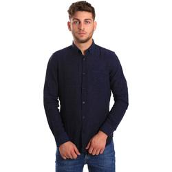 Textil Muži Košile s dlouhymi rukávy Gas 151200 Modrý