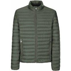 Textil Muži Prošívané bundy Geox M8225D T2449 Zelený
