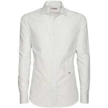 Textil Muži Košile s dlouhymi rukávy NeroGiardini P873051U Bílý