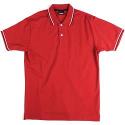 Textil Muži Polo s krátkými rukávy Key Up 2Q70G 0001 Červené