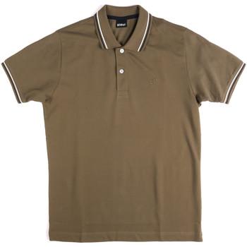Textil Muži Polo s krátkými rukávy Key Up 2Q70G 0001 Zelený