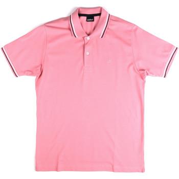 Textil Muži Polo s krátkými rukávy Key Up 2Q70G 0001 Růžový