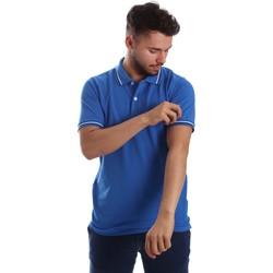 Textil Muži Polo s krátkými rukávy Key Up 2Q70G 0001 Modrý