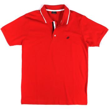 Textil Muži Polo s krátkými rukávy Key Up 2Q711 0001 Červené