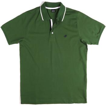 Textil Muži Polo s krátkými rukávy Key Up 2Q711 0001 Zelený