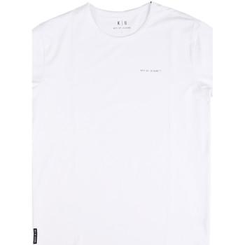 Textil Muži Trička s krátkým rukávem Key Up 2G69S 0001 Bílý