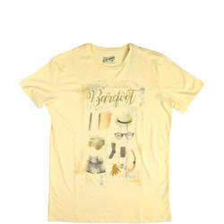 Textil Muži Trička s krátkým rukávem Key Up 2G84S 0001 Žlutá