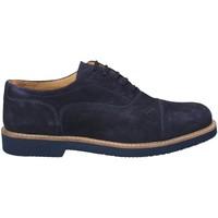 Boty Muži Šněrovací společenská obuv Exton 9196 Modrý