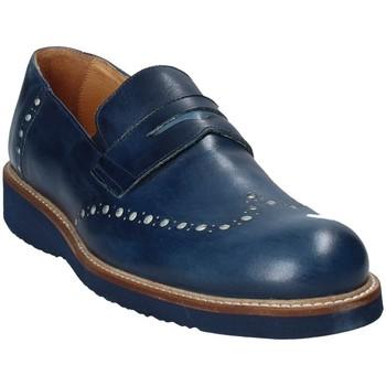 Boty Muži Mokasíny Exton 885 Modrý