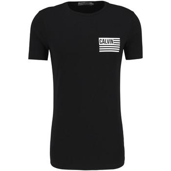 Textil Muži Trička s krátkým rukávem Calvin Klein Jeans J30J306891 Černá