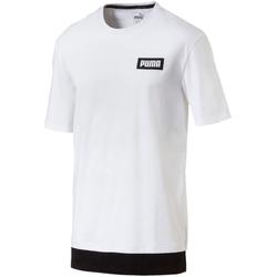 Textil Muži Trička s krátkým rukávem Puma 850068 Bílý