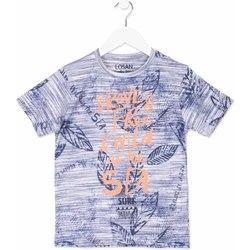 Textil Děti Trička s krátkým rukávem Losan 813-1023AA Modrý