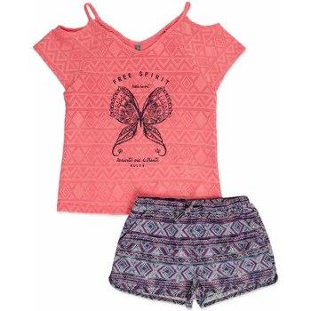 Textil Dívčí Set Losan 814-8022AB Růžový