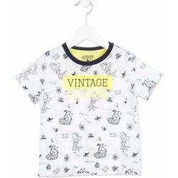 Textil Děti Trička s krátkým rukávem Losan 815-1004AC Bílý