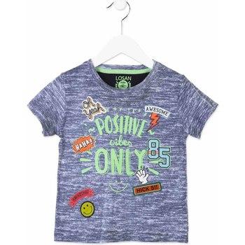 Textil Děti Trička s krátkým rukávem Losan 815-1017AC Modrý